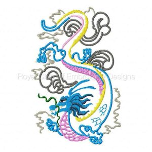Royal Club Of Embroidery Designs - Machine Embroidery Patterns Applique Dragon Set