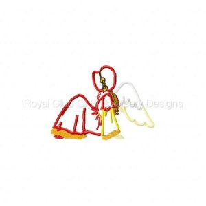 Royal Club Of Embroidery Designs - Machine Embroidery Patterns Elegant Appliqued Angel Bonnets Set
