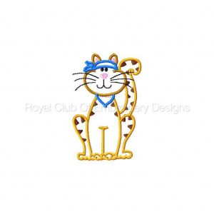 Royal Club Of Embroidery Designs - Machine Embroidery Patterns Applique Kitty Kats Set