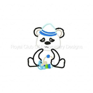 Royal Club Of Embroidery Designs - Machine Embroidery Patterns Applique Pandas Set