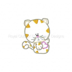 Royal Club Of Embroidery Designs - Machine Embroidery Patterns Applique Puppies and Kitties Set