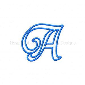 Royal Club Of Embroidery Designs - Machine Embroidery Patterns Applique Alphabet Set