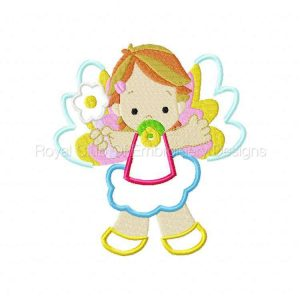Royal Club Of Embroidery Designs - Machine Embroidery Patterns Applique Baby Angels 2 Set