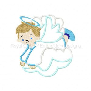 Royal Club Of Embroidery Designs - Machine Embroidery Patterns Applique Baby Angels Set