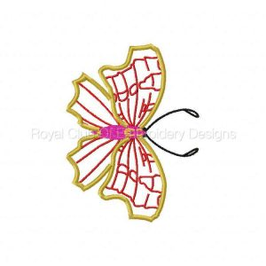 Royal Club Of Embroidery Designs - Machine Embroidery Patterns Applique Butterflies 2 Set
