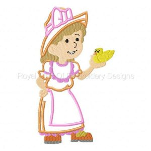 Royal Club Of Embroidery Designs - Machine Embroidery Patterns Applique Country Girl 2 Set