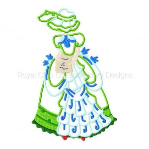 Royal Club Of Embroidery Designs - Machine Embroidery Patterns Country Girls Set