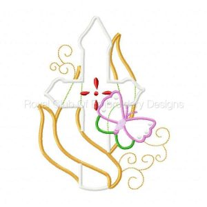 Royal Club Of Embroidery Designs - Machine Embroidery Patterns Applique Crosses Ribbons and Butterflies Set