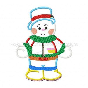 Royal Club Of Embroidery Designs - Machine Embroidery Patterns Applique Dress Up Snowman Set