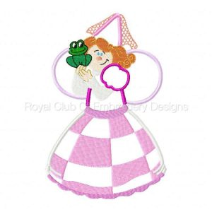 Royal Club Of Embroidery Designs - Machine Embroidery Patterns Applique Fairies Set