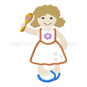 Royal Club Of Embroidery Designs - Machine Embroidery Patterns Applique Fancy Girls 2 Set