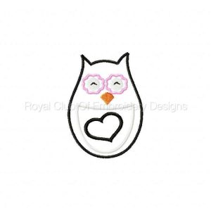 Royal Club Of Embroidery Designs - Machine Embroidery Patterns Applique Hoot Owls Set