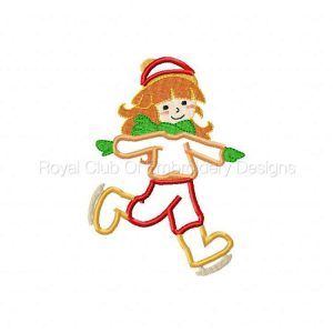 Royal Club Of Embroidery Designs - Machine Embroidery Patterns Applique Ice Skaters Set