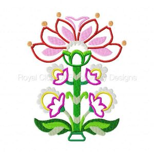 Royal Club Of Embroidery Designs - Machine Embroidery Patterns Jacobean Florals Set