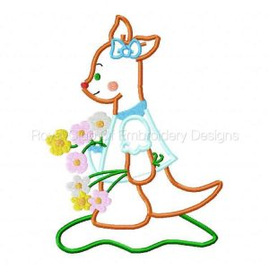 Royal Club Of Embroidery Designs - Machine Embroidery Patterns Applique Kangaroo Set