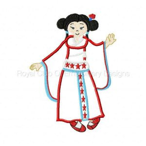 Royal Club Of Embroidery Designs - Machine Embroidery Patterns Applique Kimonos Set