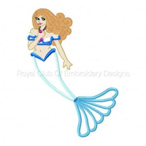 Royal Club Of Embroidery Designs - Machine Embroidery Patterns Applique Mermaids Set