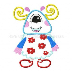 Royal Club Of Embroidery Designs - Machine Embroidery Patterns Applique Monsters Set