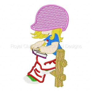 Royal Club Of Embroidery Designs - Machine Embroidery Patterns Applique Sunbonnets Set