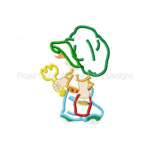 Royal Club Of Embroidery Designs - Machine Embroidery Patterns Applique Sunbonnet Boys Set