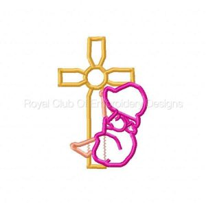 Royal Club Of Embroidery Designs - Machine Embroidery Patterns Applique Sunbonnet with Crosses Set