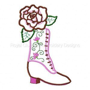 Royal Club Of Embroidery Designs - Machine Embroidery Patterns Applique Victorian Shoes Set
