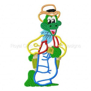 Royal Club Of Embroidery Designs - Machine Embroidery Patterns Applique Western Frogs Set