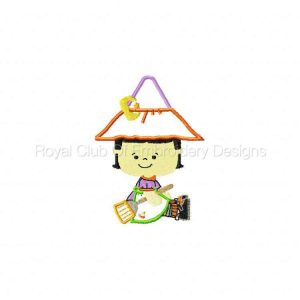 Royal Club Of Embroidery Designs - Machine Embroidery Patterns Applique Little Witches Set