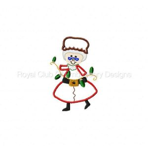Royal Club Of Embroidery Designs - Machine Embroidery Patterns Applique Mrs Santa Set