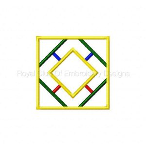 Royal Club Of Embroidery Designs - Machine Embroidery Patterns Geometric Applique Quilt Blocks Set
