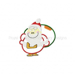 Royal Club Of Embroidery Designs - Machine Embroidery Patterns Applique Santas Set