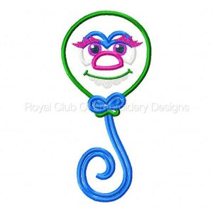 Royal Club Of Embroidery Designs - Machine Embroidery Patterns Applique Monster Bash Set
