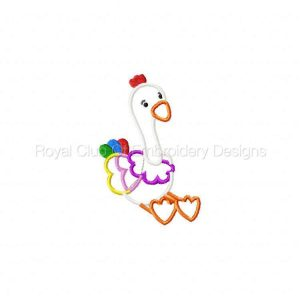 Royal Club Of Embroidery Designs - Machine Embroidery Patterns Applique Patchwork Birds Set