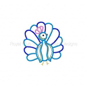 Royal Club Of Embroidery Designs - Machine Embroidery Patterns Applique Peacocks Set