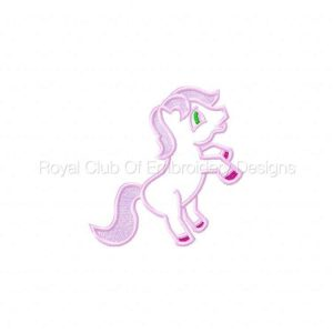 Royal Club Of Embroidery Designs - Machine Embroidery Patterns Applique Ponies Set