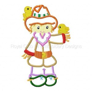 Royal Club Of Embroidery Designs - Machine Embroidery Patterns Applique Scarecrows Set