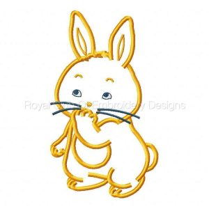 Royal Club Of Embroidery Designs - Machine Embroidery Patterns Applique Super Cute Bunnies Set