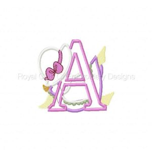 Royal Club Of Embroidery Designs - Machine Embroidery Patterns Applique Sunbonnet Alphabet Set