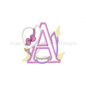 Royal Club Of Embroidery Designs - Machine Embroidery Patterns Applique Sunbonnet Alphabet Set