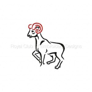 Royal Club Of Embroidery Designs - Machine Embroidery Patterns Artistic Animals Set