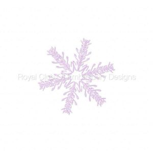 Royal Club Of Embroidery Designs - Machine Embroidery Patterns Word Art Snowflakes Set