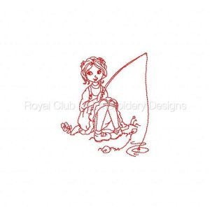 Royal Club Of Embroidery Designs - Machine Embroidery Patterns Aubrie Fishing Set