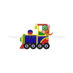 Royal Club Of Embroidery Designs - Machine Embroidery Patterns Australian Train Set