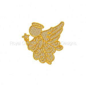 Royal Club Of Embroidery Designs - Machine Embroidery Patterns FSL Autumn Angels Set