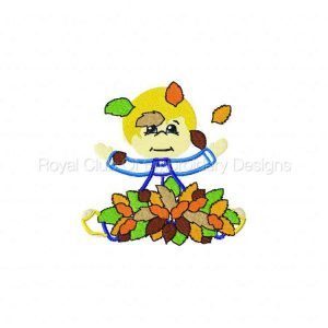 Royal Club Of Embroidery Designs - Machine Embroidery Patterns Applique Autumn Kids Set