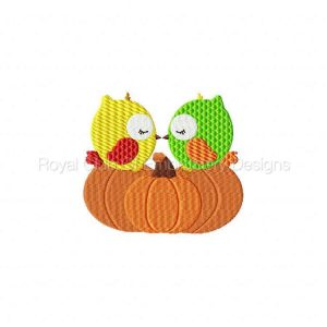 Royal Club Of Embroidery Designs - Machine Embroidery Patterns Autumn Owls Set