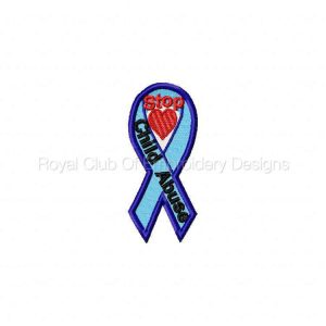 Royal Club Of Embroidery Designs - Machine Embroidery Patterns Awareness Ribbons 2 Machine Embroidery Designs Set