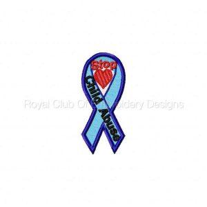 Royal Club Of Embroidery Designs - Machine Embroidery Patterns Awareness Ribbons 2 Machine Embroidery Designs Set