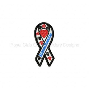 Royal Club Of Embroidery Designs - Machine Embroidery Patterns Awareness Ribbons Set