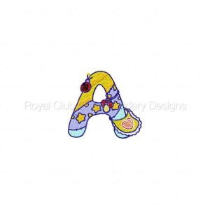Royal Club Of Embroidery Designs - Machine Embroidery Patterns Baby Alphabet Set